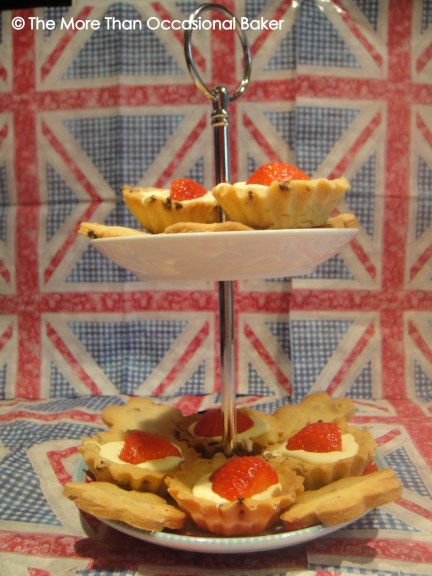Clotted Cream and Strawberry Tarts and Cookies